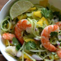 Spiralized Cucumber Shrimp Salad (AIP/Paleo/Refined Sugar-Free)|Lichen Paleo, Loving AIP